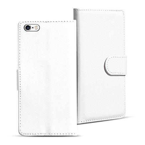iPhone 6s Plus, 6 Plus Bookstyle Hülle, Conie Mobile PU Leder Schutzhülle Handytasche Bookcase Tasche Premium Klapphülle in Braun Weiss