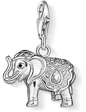 Thomas Sabo Unisex-Charm Club Elefant 925 Silber Zirkonia weiß Rundschliff - 1050-041-14