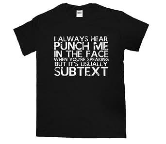 21 Century Clothing Damen Sherlock Punch T-Shirt - Schwarz -XX-Large