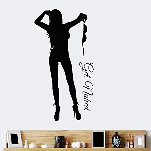 wandaufkleber 3d Sexy Girl Decal Beauty Body Naked Sticker Wall Bathroom Woman Girl Wall KTV Pub Bar Shop Sticker for bedroom (Sexy Disney Stars)