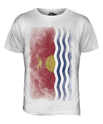 CandyMix Kiribati Verblichen Flagge Herren T Shirt Weiß
