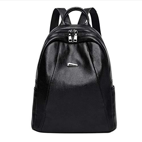 Shisky Damen Lederrucksack, Leder Schulter Baotou Schicht Kuh Tasche Freizeit große Kapazität Diebstahlschutz Rucksack 30x15x33cm