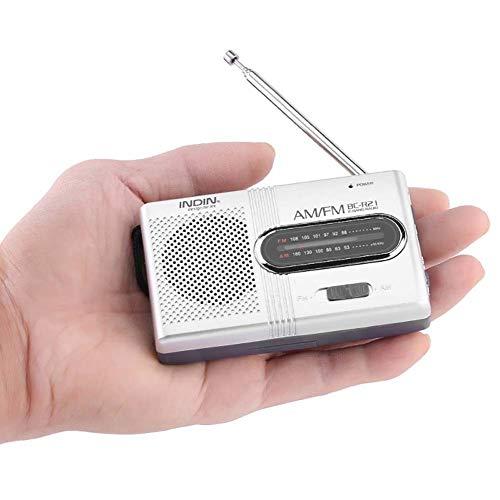 BC-R21 Mini-Radio Tragbare AM FM Teleskopantenne Pocket Radio Weltempfänger Lautsprecher Batteriebetrieben (Mini Fm Radio Pocket Am)