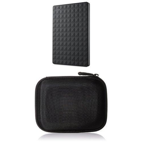 Preisvergleich Produktbild Seagate Expansion Portable, 1,5TB, externe tragbare Festplatte; USB 3.0 und AmazonBasics Festplattentasche, schwarz