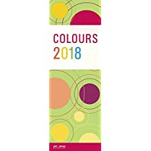 Colours 2018 - Streifenkalender bunt, Slim Notes  -  14,5 x 42 cm