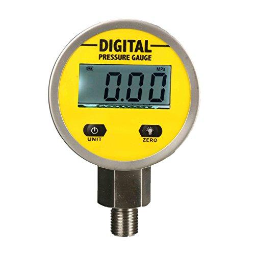 KUNSE Digitale Hydraulik-Druckmessung 0-250bar 25MPa 3600psi BSP1/4 inch Basiseintrag