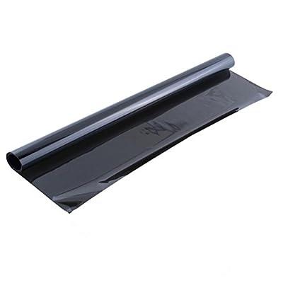 Winomo - Film solaire autocollant, occultant, pour vitre de voiture, 6m x 50cm - Noir