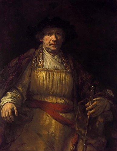 Steve Art Gallery Self-Portrait,Rembrandt Van Rijn,50x40cm (Rijn Van Self Portrait)