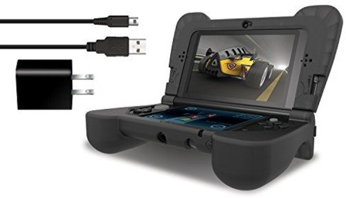 DREAMGEAR ISOUND-– Power Play Kit – ergonomisch/Schutzhülle Silikon Cover + AC Adapter + Ladekabel für 3DS XL