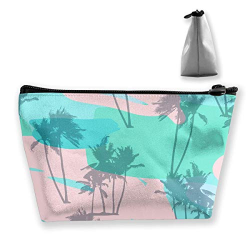 he Pflanze Insel Womens Travel Cosmetic Bag tragbare Kulturbürste Lagerung ()