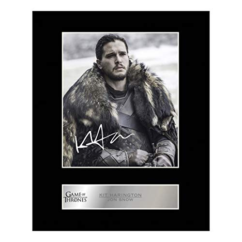 Kit Harington, Jon Snow Signiert Foto Display Game of Thrones # 1