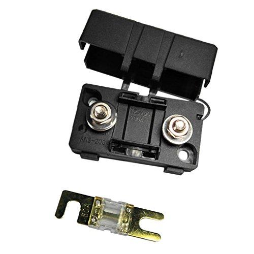 Dolity Kfz Auto Mini Ans Sicherungshalter Fuse Box Block Staubdichte Abdeckung - Ampere Auswählen - Schwarz - 80A Fuse Block-box