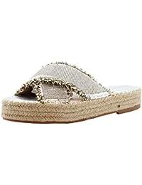 Damas Mujeres Verano Playa Pisos Alpargatas Diamante Sliders Sandalias Mulas Zapatos 36-41
