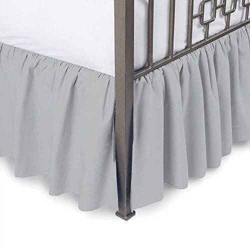 Bhoomi Impex gerüschte Bett Rock mit Split cornerss-(erhältlich in Allen Größen und 10Farben) Twin XL - 14