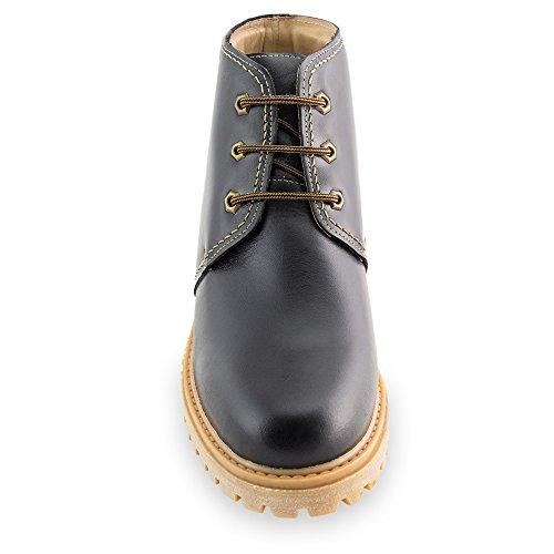 Masaltos - Chaussures rehaussantes pour homme. Jusqu'à 7 cm plus grand! Modèle Bergen Noir
