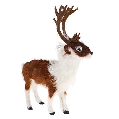 perfeclan Elch Form Dekoration Puppen, Weihnachten Ornament Kreativ Schneemann Spielzeug, Elch Puppe für Party Dekoration -