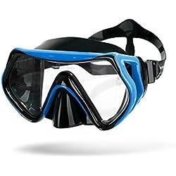 Sportastisch Top¹ Masque de plongée Dive Under | Masque de plongée avec protection antibuée + UV et ruban de silicone réglable | idéal pour adultes et enfants de 10 ans | Jusqu'à 3 ans de garantie²