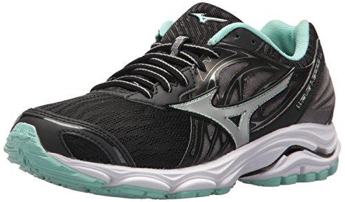 Mizuno Damen Wave Inspire 14 Running Shoe Laufschuh, schwarz/Silber, 36.5 EU -