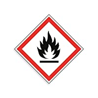 Safety & Hazard Signs - Harmful Substances Signs - GHS COSHH Symbol Signs [Flammable] (100mm x 100 Diamond)