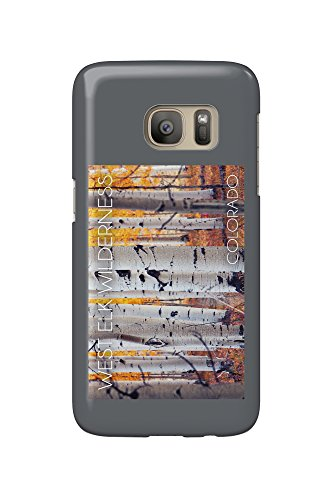West Elk Wilderness, Colorado - Aspen Forest (Galaxy S7 Cell Phone Case, Slim Barely There)