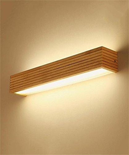 YANZHEN LED solido legno dello specchio Luci frontale rettangolare ...