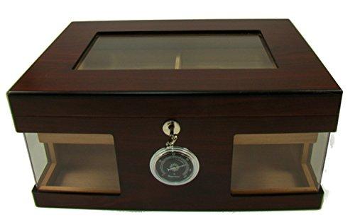 Humidor für 100 Zigarren Glasdeckel