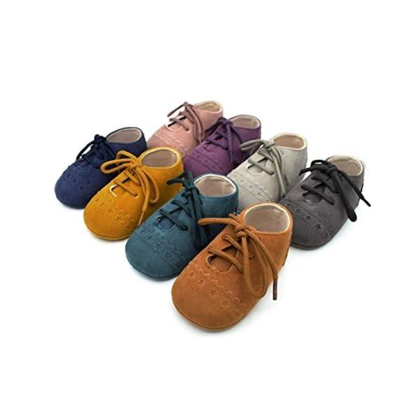 Primeros Pasos Zapatos De Bebé, niño niña Zapatillas de bebé Antideslizante de Encaje hasta Zapatos 0-18 Mes