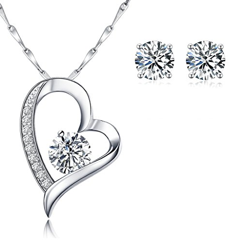 dazzling-duo-sterling-silver-pendant-and-earrings-set-stud-earrings-pendant-necklace-with-18-inch-v-
