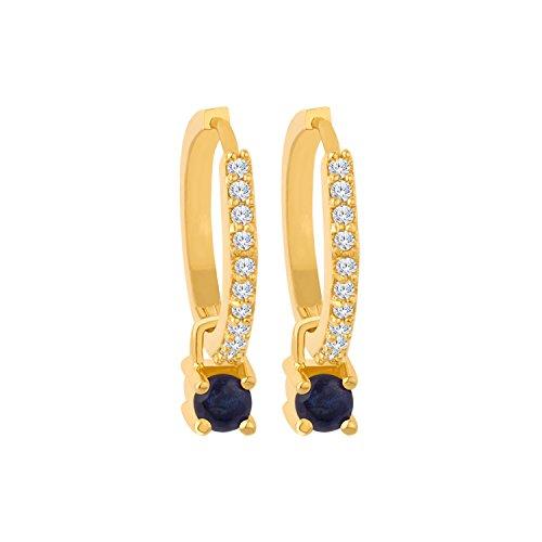 Voylla Versatile Changeable Golden Brass Studs Hoop Earrings For Women
