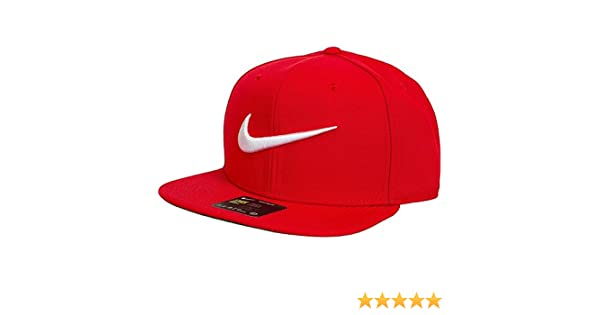 sale retailer 238b5 4cc8b Nike Unisex Swoosh Pro Cap - University Red Pine Green Black White, One  Size  Amazon.co.uk  Sports   Outdoors