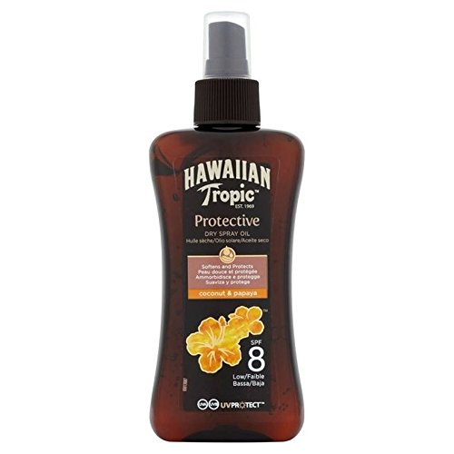 Hawaiian Tropic Dry protection spray oil SPF 8 200 ml (Pack of 4)