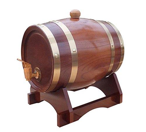 Mkuha Horizontal Holz Weinfass Spender Kiefer,Aluminiumfolie Liner(Kaffee), 10L -