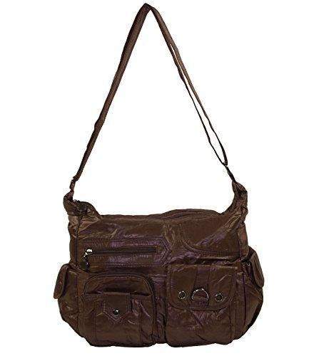 wasserabweisende Bag Coffee 9 Schwarz Shopper Stoff Handtasche Tasche 4013 Damentasche q6FvZqxTr