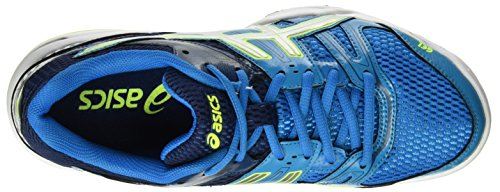 Asics Gel-Rocket 7, Chaussures de Tennis Homme Bleu (Blue Jewel/glacier Grey/safety Yellow)