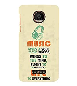 FUSON Music Wings Life 3D Hard Polycarbonate Designer Back Case Cover for Motorola Moto Z Force :: Motorola Moto Z Force Droid for USA