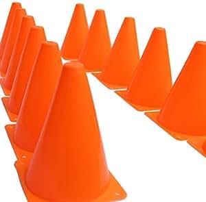 Dazzling Toys - Cônes de circulation miniature jouet D071/2 - Orange (lot de 24)