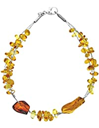 Nature d'Ambre - Bracelet multi rangs - Argent 925 - Ambre - 19 cm - 31812220