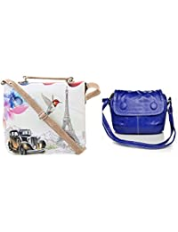 Felicita Combo High Quality Designer Cross Body College And Office Women And Girls Sling Bag (Set Of 2)