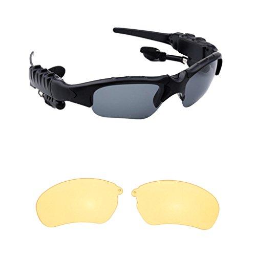 Smart Stereo Bluetooth 4.1 Brille Headset Kopfhörer Wireless Sport Bluetooth Sonnenbrille Kopfhörer Brille Kopfhörer Eyewear 3#
