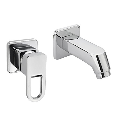 Modern Hot Cold Water Mixer Tap Wall Mounted Bathroom Kitchen Basin Sink Spout Faucet -