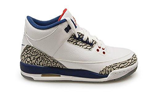 Nike Jungen 854261-106 Turnschuhe, 40 EU (Jordan Retro 3 Sport Blue)