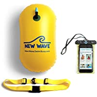 Swim Bubble for Open Water Swimmers and Waterproof Phone Case Bundle - Bubble Bundle Yellow