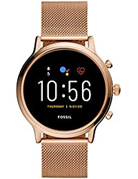 Fossil Gen 5 Julianna - Touchscreen Smartwatch Stainless Steel case and Strap in Rose Gold Tone with Speaker, Heart Rate, GPS, NFC,for Womens- FTW6062