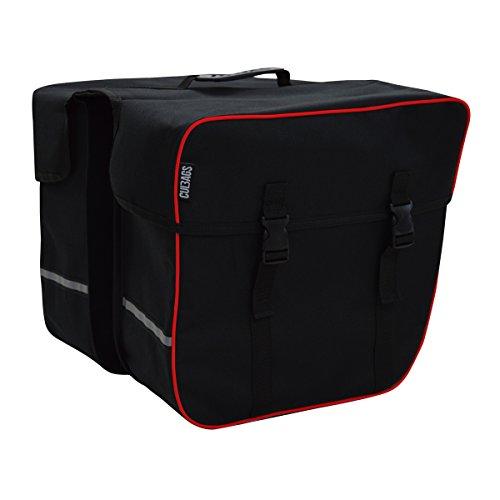 C-BAGS RIDER double Gepäckträger Tasche Fahrradtasche 2-er Set verschiedene Muster black-red