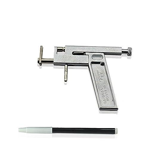 Vococal® Anneau de Corps Oreille Lèvres Nez Piercing Tattoo Machine avec Marqueur Pen Kit Set un Outil Métallique Pierce