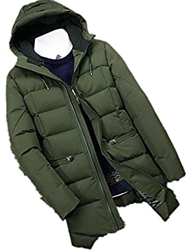 Invierno de los hombres chaqueta con capucha abrigo acolchado libre , army green , m