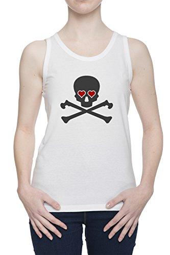 L'amore Uccide Il Cranio Donna Bianco Canotta T-shirt Tutte Le Taglie | Women's White Tank T-Shirt Vest Top