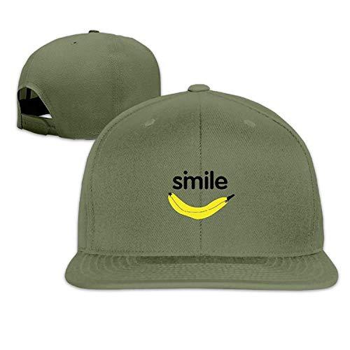 Simile Banana Hip Hop Baseball Cap Adjustable Flat Brim Hat Outdr Sport Baseball Hat Unisex JH4297 Flat Brim Fitted Wool Cap