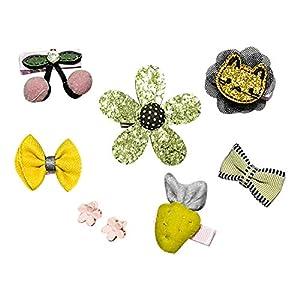 Eudola Kinder Haarspange, Grüne Blume Haarspange Gesetzt Niedlich Haarspange-Set Haarclips Haarklammern Haarschmuck Mädchen und Kinder