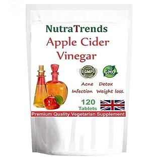Apple Cider Vinegar 500mg Vegetarian Tablets Weight Loss/Detox (120)